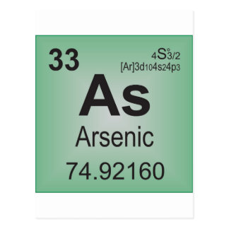 Arsenic Individual Element from Periodic Table Postcard