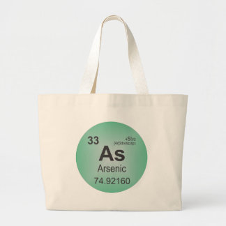 Arsenic Individual Element of the Periodic Table Large Tote Bag
