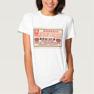 Arsenic Medical Poison Label T-shirt