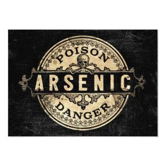 Arsenic Poison Label Vintage Style Invitation