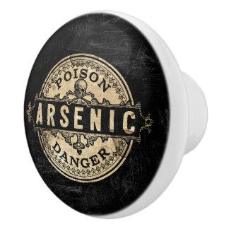 Arsenic Vintage Style Poison Label Ceramic Knob