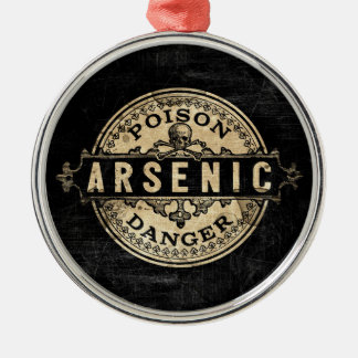 Arsenic Vintage Style Poison Label Metal Ornament