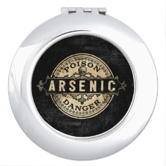 Arsenic Vintage Style Poison Label Mirror For Makeup