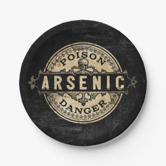 Arsenic Vintage Style Poison Label Paper Plate