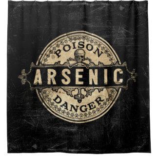 Arsenic Vintage Style Poison Label Shower Curtain