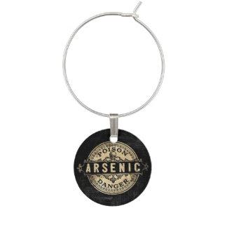Arsenic Vintage Style Poison Label Wine Glass Charm