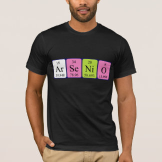 Arsenio periodic table name shirt