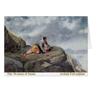 Arshak Fetvadjian, Woman of Sasun Greeting Card