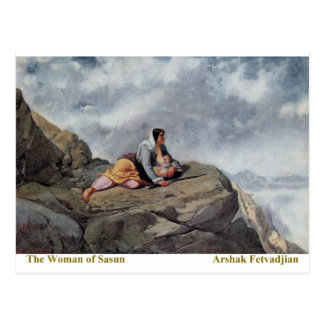 Arshak Fetvadjian, Woman of Sasun Postcard