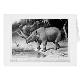 Arsinoitherium zitteli art postcard