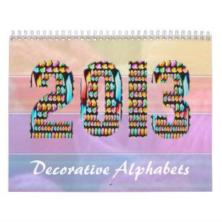 ART101 alfabetos decorativos - Navidad Calendario