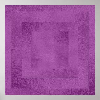Art101 Artist Created Satin Silk Holy Purple Tiles Print