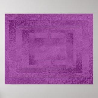 Art101 Artist Created Satin Silk Holy Purple Tiles Posters