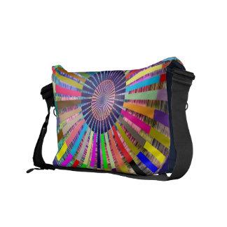 Art101 Basket Weave Folkart Bamboo Chakra V3 Messenger Bag