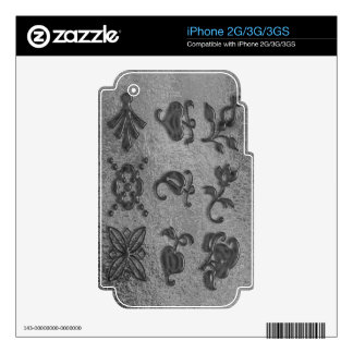 Art101 Black Beauty Jewels Decal For The iPhone 3