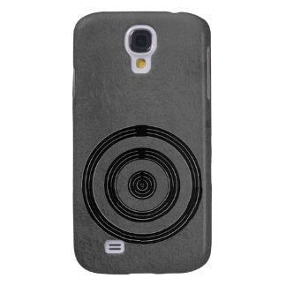 Art101 BNW Circles n Text Samples - White on Black Samsung Galaxy S4 Cases