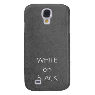 Art101 BNW Circles n Text Samples - White on Black Samsung Galaxy S4 Cover