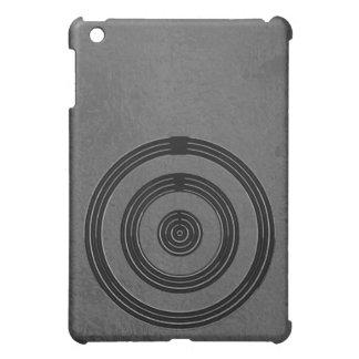 Art101 BNW Circles n Text Samples - White on Black iPad Mini Cases