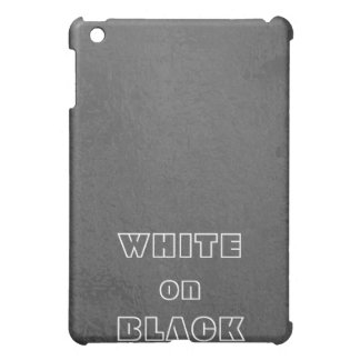 Art101 BNW Circles n Text Samples - White on Black Cover For The iPad Mini