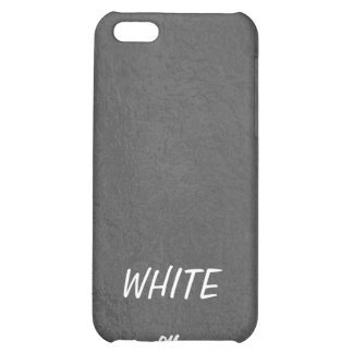 Art101 BNW Circles n Text Samples - White on Black Cover For iPhone 5C