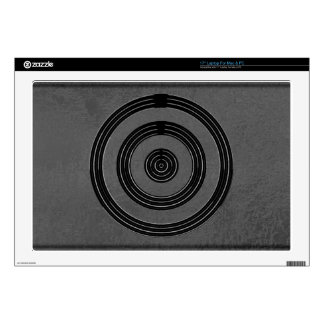 Art101 BNW Circles n Text Samples - White on Black Laptop Decals