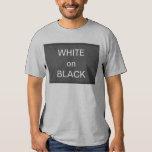 Art101 BNW Circles n Text Samples - White on Black Tshirt