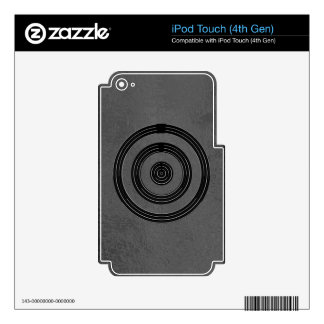 Art101 BNW circunda las muestras del texto de n -  iPod Touch 4G Skin