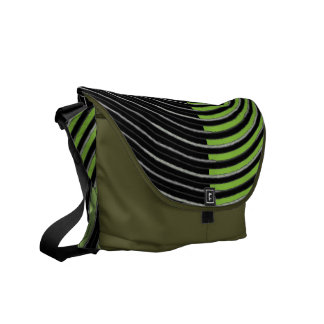 Art101 BOLLYWOOD Diva - Silver Green Streaks Commuter Bags