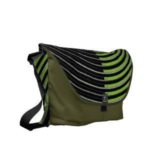Art101 BOLLYWOOD Diva - Silver Green Streaks Messenger Bag