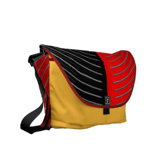 Art101 BOLLYWOOD Diva - Silver Red Streaks Courier Bags