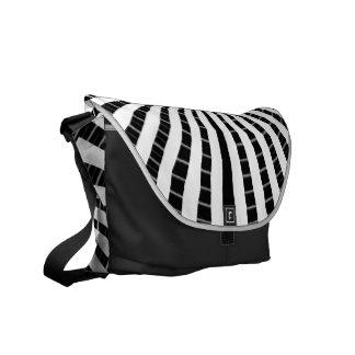 Art101 BOLLYWOOD Diva - Silver Streak Black Beauty Messenger Bag