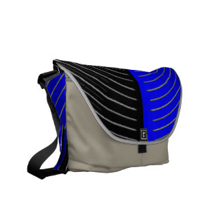 Art101 BOLLYWOOD Diva - Silver Streak Blue Beauty Courier Bag