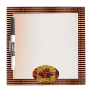 Art101 Canadian Pride Gold dots n Silver Screen Dry Erase Whiteboards