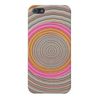 Art101 color caliente magnífico - círculos de Silk iPhone 5 Carcasas