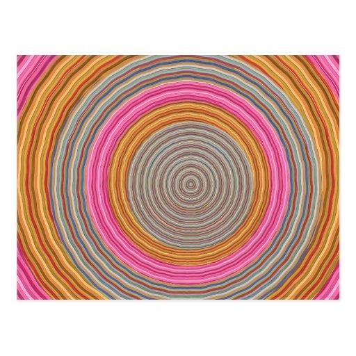 Art101 color caliente magnífico - círculos de Silk Tarjetas Postales