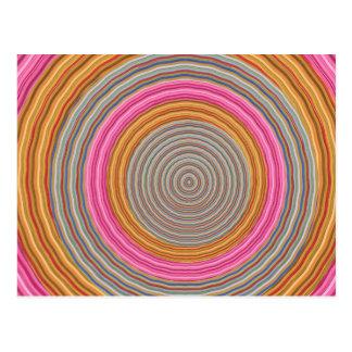 Art101 color caliente magnífico - círculos de postal