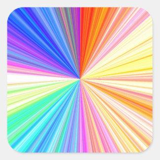 ART101 Color Wheel Square Sticker