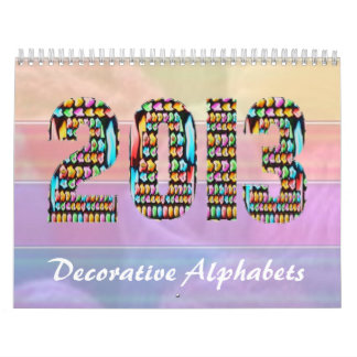 ART101 Decorative Alphabets - Xmas Calendar