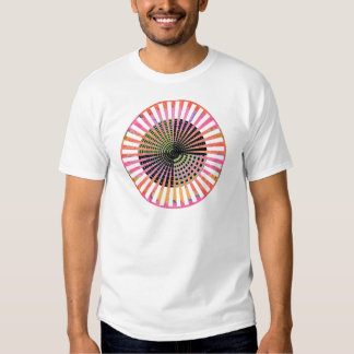 ART101 Fashion : CHAKRA Black Green n Pink Round T-shirts