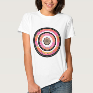 ART101 Fashion : CHAKRA Blue Pink Round and Ovals Shirts