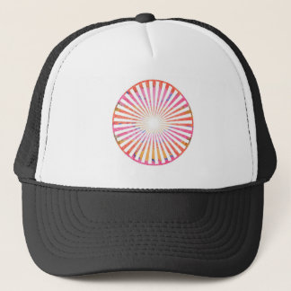 ART101 Fashion : CHAKRA Blue Pink Round and Ovals Trucker Hat