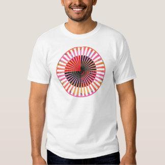 ART101 Fashion : CHAKRA Red Black n Pink Round T-shirt