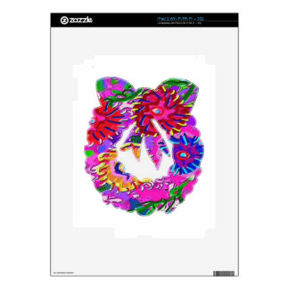 ART101 Flower Floral Wreath by Navin Decal For The iPad 2