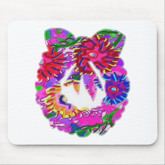 ART101 Flower Floral Wreath by Navin Mouse Pads