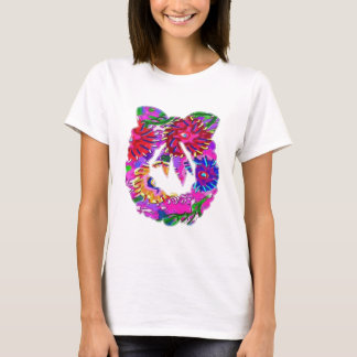 ART101 Flower Floral Wreath by Navin T-Shirt