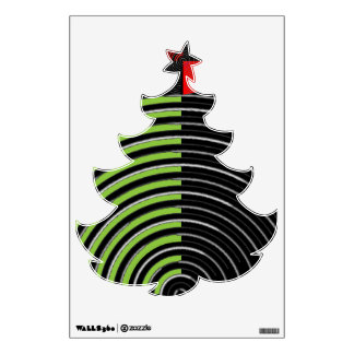 ART101 Fun Waves  : Christmas Tree Xmas Wall Decal