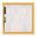 Art101  Gold Dot Dream Border Dry Erase Whiteboard