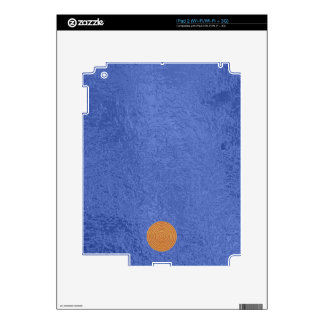 Art101 Gold Seal - Blue Berry Satin Silk Blanks Decal For iPad 2