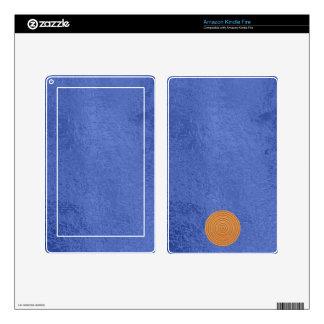 Art101 Gold Seal - Blue Berry Satin Silk Blanks Kindle Fire Skin