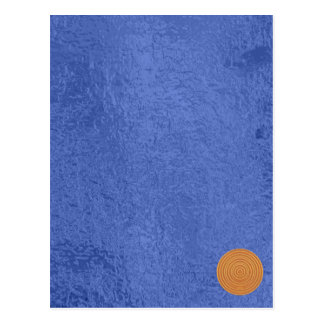 Art101 Gold Seal - Blue Berry Satin Silk Blanks Postcard